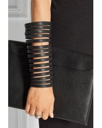 Rick Owens - Black Cutout Leather Arm Cuff - Lyst