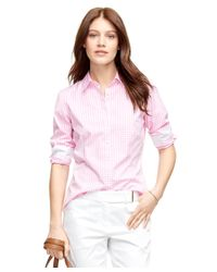 Brooks Brothers - Pink Non-iron Tailored Fit Check Dress Shirt - Lyst