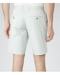 Reiss - Green Wicker Tailored Chino Shorts for Men - Lyst