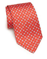Ferragamo | Red Elephants with Flower Silk Tie  for Men | Lyst