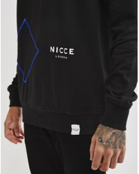 Nicce London - Contour Sweatshirt Black for Men - Lyst