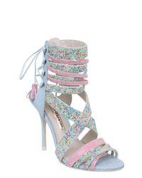 Sophia Webster - Pink 110mm Adeline Lace-up Crystal Sandals - Lyst