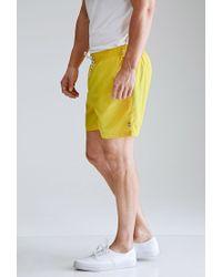 Forever 21 | Yellow Rope-drawstring Swim Trunks for Men | Lyst