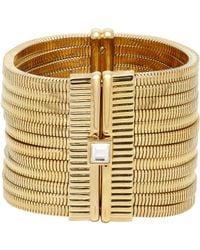 Lanvin | White Crystal-embellished Multi-strand Snake-chain Bracelet | Lyst