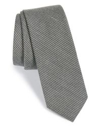 Calibrate | Gray Check Silk Blend Tie for Men | Lyst