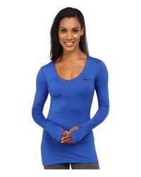 Nike | Blue Pro Long-sleeve | Lyst