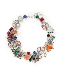 Erickson Beamon Multicolor 'Bucky Ball' Crystal Collar Necklace