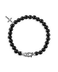 David Yurman - Black Spiritual Beads Bracelet - Lyst