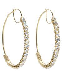 Irene Neuwirth Metallic Gemstone Hoops