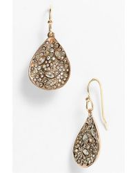 Alexis Bittar | Pink 'miss Havisham' Crystal Encrusted Teardrop Earrings | Lyst