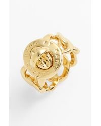 Marc By Marc Jacobs | Metallic 'turnlock - Katie' Ring | Lyst