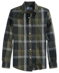 American Rag | Green Bramblett Plaid Shirt for Men | Lyst