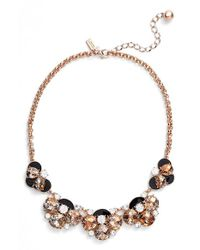 kate spade new york | Metallic 'fame & Flowers' Necklace | Lyst