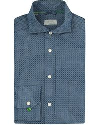 Eton of Sweden | Blue Slim Fit Micro-print Shirt for Men | Lyst