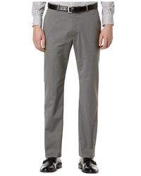 Perry Ellis | Gray Slim-fit Flat-front Dress Pants for Men | Lyst