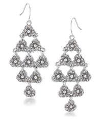 Carolee   Metallic Catch The Bouquet Glitz Kite Chandelier Drop Earrings   Lyst