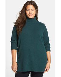 Halogen - Green Turtleneck Sweater - Lyst