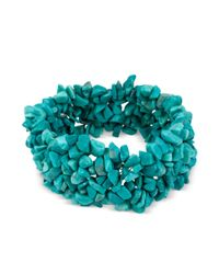 Kenneth Cole - Blue Semiprecious Turquoise Chip Stretch Bracelet - Lyst