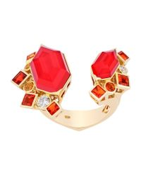 Stephen Webster | Red Gold Struck Crystal Haze Open Ring | Lyst