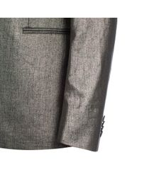 Paul Smith   Men's Metallic Silver Linen Blazer for Men   Lyst