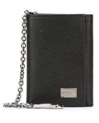 Dolce & Gabbana - Black Clip Chain Wallet - Lyst