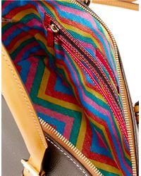 Dooney & Bourke Brown Claremont Leather Dome Satchel Bag