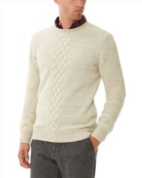 Jaeger - Natural Sport-loden Crew Neck Sweater for Men - Lyst