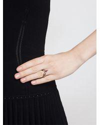 Yvonne Léon Metallic 18k Yellow Gold and Ruby Leaf Ring