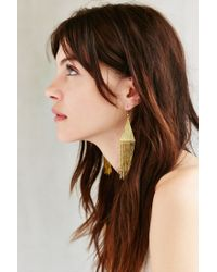 Urban Outfitters | Metallic Lonestar Fringe Drop Earring | Lyst
