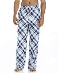 Psycho Bunny | Blue Plaid Woven Lounge Pants for Men | Lyst