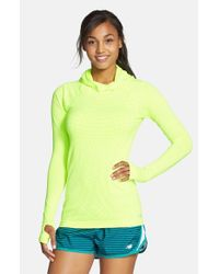 New Balance - Green 'premium - Made For Movement' Seamless Hoodie - Lyst