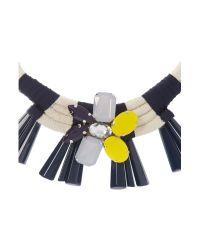 Max Mara Multicolor Uniparo Jewel And Rope Necklace