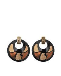 Gas Bijoux | Black Shagreen Earrings | Lyst