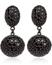 M.c.l - Black Spinel Pave Drop Earrings - Lyst