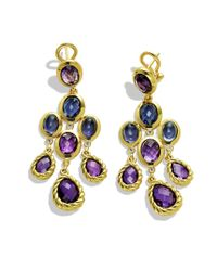 David Yurman - Metallic Chandelier Earrings with Amethyst and Diamonds in Gold - Lyst