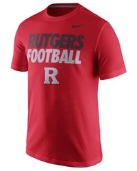 Nike Red Men's Rutgers Scarlet Knights Practice T-shirt for men