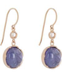 Irene Neuwirth Blue Women's Gemstone Double-drop Earrings