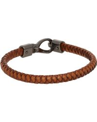 Tod's | Natural Woven Leather Bracelet for Men | Lyst