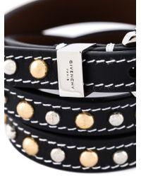 Givenchy - Black Studded Wrap Bracelet - Lyst