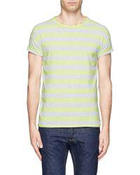 Scotch & Soda Yellow Fade Stripe T-shirt for men
