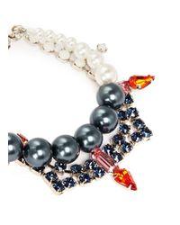 Joomi Lim - Multicolor Crystal Pearl Bracelet - Lyst