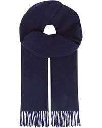 Ralph Lauren | Blue Cashmere Scarf for Men | Lyst