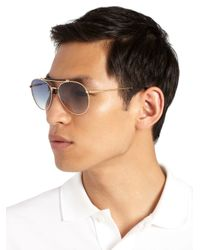 Tom Ford - Blue Colin Metal Aviator Sunglasses for Men - Lyst
