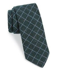 Ted Baker | Green Windowpane Silk Blend Tie for Men | Lyst