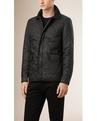 Burberry - Black Diamond Quilted Jacket for Men - Lyst