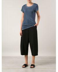 Cotton Citizen Blue Long Round Neck T-Shirt