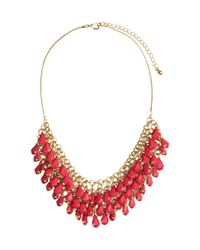 H&M | Red Necklace With Pendants | Lyst