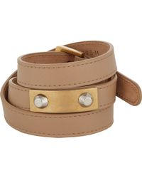 Balenciaga | Brown Studded Wrap Bracelet | Lyst
