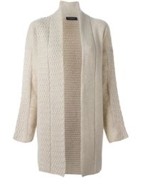 Piazza Sempione - Natural Panelled Cardi-coat - Lyst
