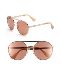 Isaac Mizrahi New York | Pink 56mm Round Sunglasses | Lyst